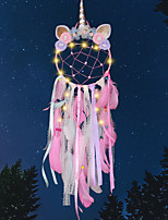 cheap -2020 Unicorn Dream Catcher for Girls Room Nursery Decor Wall Hanging Decoration Dream Catcher Kids Room Birthday Wedding Gift