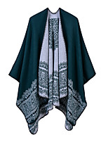 cheap -Women's Cloak / Capes Regular Geometric Daily Basic Black Wine Camel One-Size