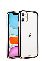 cheap -Case For iPhone 7 8 7 Plus 8 Plus X XS XR XS Max SE 11 11 Pro 11 Pro Max Transparent Back Cover Transparent Solid Colored TPU