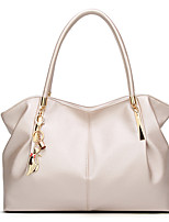 cheap -Women's Bags PU Leather Top Handle Bag Zipper for Daily / Date White / Black / Red / Champagne