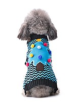 cheap -winter dog sweater,christmas tree holiday ugly puppy pet dogs sweaters xmas new year doggies jumper sweater,pet clothes for small medium dog and cat xs s m l xl