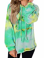 cheap -Women's Daily Pullover Hoodie Sweatshirt Tie Dye Casual Hoodies Sweatshirts  Loose Purple Yellow Green