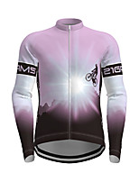 cheap -21Grams Men's Long Sleeve Cycling Jersey Polyester Purple Yellow Red Novelty Bike Jersey Top Mountain Bike MTB Road Bike Cycling Breathable Quick Dry Reflective Strips Sports Clothing Apparel