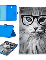 cheap -Case For Samsung Galaxy Samsung TAB S2 8.0 T710 / T713 / T715C / T719C / Samsung TAB A 8.0 T350 / T355C / P350 / P355C Card Holder / Shockproof / Pattern Full Body Cases Animal PU Leather / TPU