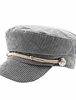 cheap -women captain hat cap corduroy skipper sailor yacht military ffh402gry