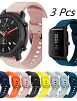 cheap -3 Pcs Sport Silicone Watch Band for Amazfit GTR 47mm 42mm / GTS / Bip S / Bip Youth / Stratos 3 / Stratos 2 2S/Pace 1/Mi Watch Color/ Mi Haylou Replaceable Bracelet Wrist Strap Wristband
