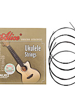cheap -NAOMI Alice Ukulele Strings AU02 Black/Clear Nylon Strings Guitar Accessories