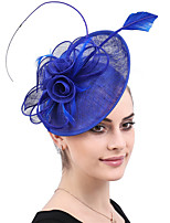 cheap -Queen Elizabeth Audrey Hepburn Retro Vintage 1950s 1920s Kentucky Derby Hat Pillbox Hat Women's Costume Hat Royal Blue Vintage Cosplay Party Prom