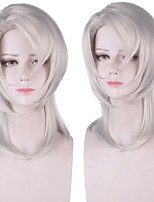 cheap -Cosplay Costume Wig Synthetic Wig Rui Demon Slayer Natural Straight With Bangs Wig Medium Length White Synthetic Hair 14 inch Women's Anime Fashionable Design Cosplay White