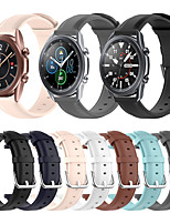 cheap -Soft Leather Watch Band for Samsung Galaxy Watch 3 45mm 41mm / Galaxy Active 2 40mm 44mm / Galaxy Watch 46mm 42mm / Gear S3 Classic Frontier / Gear Sport / Gear S2 Classic Bracelet Wrist Strap