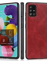 cheap -Case For Samsung Galaxy S9 S9 Plus S8 S8 Plus S10 S10E S10 Plus S20 S20 Plus S20 Ultra A71 A51 A81 M60S Note 20 Shockproof Back Cover Solid Colored PU Leather