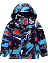cheap -Kids Boys' Basic Blue Geometric Print Long Sleeve Blouse Blue