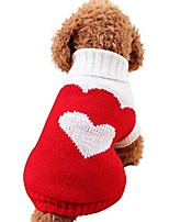 cheap -puppy winter sweater, woolen high collar warm doggie clothing apparels sweet knitted pet top (red, xl)