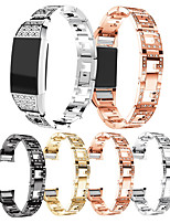 cheap -Watch Band for Fitbit charge2 Fitbit Classic Buckle / Jewelry Design / Business Band Stainless Steel Wrist Strap