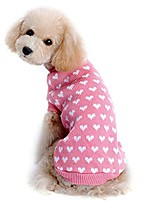 cheap -pet clothes, 2017 winter autumn warm love heart pet dog sweater dog costume small dog cat pet clothing puppy apparel coat for dogs (pink)