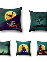 cheap -Halloween Party Halloween Decor Horror Ghost 1 Set of 5 Pcs Halloween Series Throw Pillow Covers Modern Decorative Throw Pillow Case Cushion Case,18*18 Inch 45*45cm