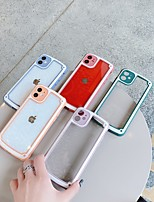 cheap -Case For Apple iPhone 7 8 7plus 8plus X XR XS XSMax SE(2020) iPhone 11 11Pro 11ProMax Shockproof Transparent Back Cover Transparent Solid Colored PC TPU