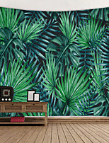 cheap -Green Big Leaf Digital Printed Tapestry Classic Theme Wall Decor 100% Polyester Contemporary Wall Art Wall Tapestries Decoration