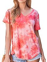 cheap -womens summer v neck t shirts tunic soft tees for juniors summer tops for women orange l