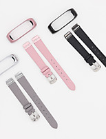 cheap -Watch Band for Xiaomi Band 4 Xiaomi Leather Loop Genuine Leather Wrist Strap