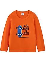cheap -Kids Boys' Basic Geometric Print Long Sleeve Tee Orange