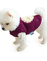 cheap -Dog Coat Character Casual / Daily Cute Casual / Daily Winter Dog Clothes Warm Purple Blue Gray Costume Polyster XS S M L XL