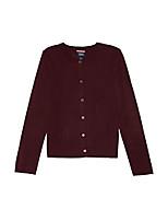 cheap -junior's fine-gauge knit cardigan sweater, navy, jl