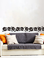 cheap -Halloween Party Halloween Decor Horror Ghost Halloween Skull Wall Stickers Decorative Wall Stickers, PVC Home Decoration Wall Decal Wall Decoration / Removable