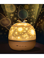 cheap -Music Projector Night Light With BT Speaker Chargeable Universe Starry Sky Rotate LED Lamp Colorful Flashing Star Kids Baby Gift