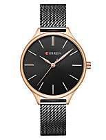 cheap -CURREN Women's Quartz Watches Quartz Formal Style Modern Style Minimalist Water Resistant / Waterproof Stainless Steel Black / Silver / Gold Analog - Rose Gold Golden+White Black One Year Battery Life