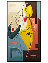 cheap -100% Hand painted Pablo Picasso Style Oil Painting on Canvas Cuadros Posters Wall Picture for Living Room Decor Rolled Without Frame