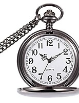 cheap -classic smooth vintage pocket watch silver steel mens watch with 14 in chain for graduation xmas fathers day litbwat