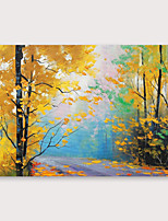cheap -IARTS Hand Painted autumn Oil Painting with Stretched Frame For Home Decoration With Stretched Frame