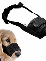 cheap -muzzle for dogs - adjustable soft dog muzzle for small medium large dog, air mesh training dog muzzles for biting barking chewing - breathable mesh & soft flannel protects dog mouth cover