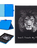 cheap -Case For Apple iPad air 1 air2 air3 pro 10.2 10.5 11 inches  9.7 inches 2019 2018 2017 Card Holder Shockproof Pattern Full Body Cases Animal PU Leather TPU Auto Sleep Wake Up magnetic buckle lion