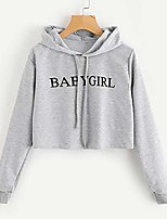 cheap -Women's Daily Pullover Hoodie Sweatshirt Solid Colored Plain Casual Hoodies Sweatshirts  Loose Wine Gray