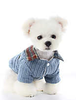 cheap -Dog Coat Sweater Plaid / Check Casual / Daily Cute Casual / Daily Winter Dog Clothes Warm Blue Gray Costume Polyster XS S M L XL