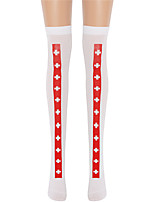 cheap -Witch Socks / Long Stockings Adults' Women's Cosplay Halloween Halloween Festival / Holiday Nylon Fiber White Women's Easy Carnival Costumes