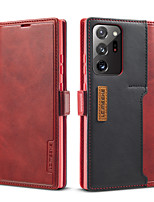 cheap -lc.imeeke Leather Case For Samsung Galaxy S10 Galaxy S10 Plus S10e Note 10 Note 10 Plus S20 S20 Plus S20 Ultra Note 20 Note 20 Ultra Card Holder  Flip Full Body Cases Solid Colored PU Leather