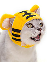 cheap -Dog Cat Hats, Caps & Bandanas Bandanas & Hats Cartoon Lion Cat Headwarmers Headpieces Christmas Party Dog Clothes Yellow Costume Cotton / Birthday / Halloween
