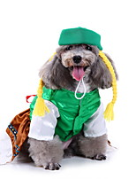 cheap -Dog Halloween Costumes Costume Shirt / T-Shirt Princess Cosplay Cute Christmas Party Dog Clothes Breathable Green Costume Polyester S M L XL