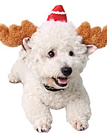 cheap -Dog Cat Halloween Costumes Bandanas & Hats Reindeer Unique Design Cute Christmas Party Dog Clothes Breathable Coffee Costume Plush One-Size