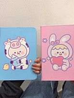 cheap -Case For Apple iPad Pro 11  Ipad Pro 11 inches 2020 with Stand Flip Full Body Cases PU Leather TPU Protective Stand Cover Pattern cute lovely  rabbit cow