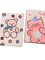 cheap -Case For Apple iPad  air1 air2 pro 9.7inch 2017 2018 with Stand Flip Full Body Cases PU Leather TPU Protective Stand Cover Pattern bear cute lovely flower