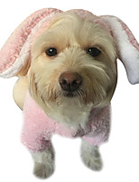 cheap -Dog Coat Pajamas Bear Rabbit / Bunny Casual / Daily Cute Casual / Daily Winter Dog Clothes Warm Pink Coffee Costume Plush S M L XL XXL