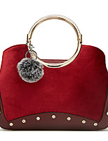 cheap -Women's Bags Velvet Top Handle Bag Feathers / Fur Zipper for Daily / Date Wine / Black / Gold / Dark Blue