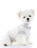 cheap -Dog Coat Vest Bear Casual / Daily Cute Casual / Daily Winter Dog Clothes Warm Beige Gray Costume Polyster XS S M L XL