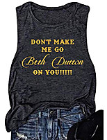cheap -beth dutton tank top women funny letters vintage graphic tees sleeveless country tops & #40;s, grey& #41;