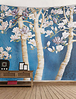 cheap -Beautiful White Magnolia Digital Printed Tapestry Decor Wall Art Tablecloths Bedspread Picnic Blanket Beach Throw Tapestries Colorful Bedroom Hall Dorm Living Room Hanging