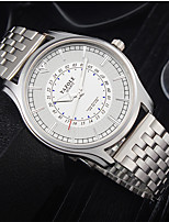 cheap -YAZOLE Men's Steel Band Watches Quartz Formal Style Modern Style Casual Water Resistant / Waterproof Analog White+Silver White / Stainless Steel / Noctilucent